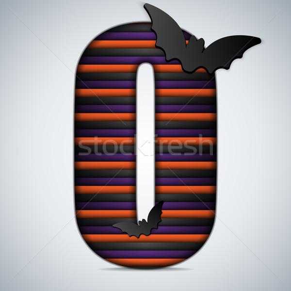 Halloween bat alfabe harfler şerit siyah Stok fotoğraf © gubh83