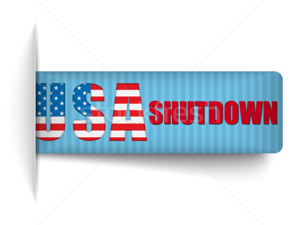 Government Shutdown USA Closed Banners. Stock photo © gubh83
