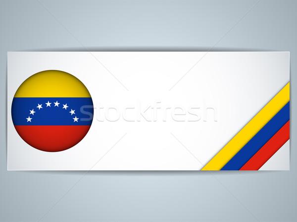 Сток-фото: Венесуэла · стране · набор · Баннеры · вектора · бизнеса