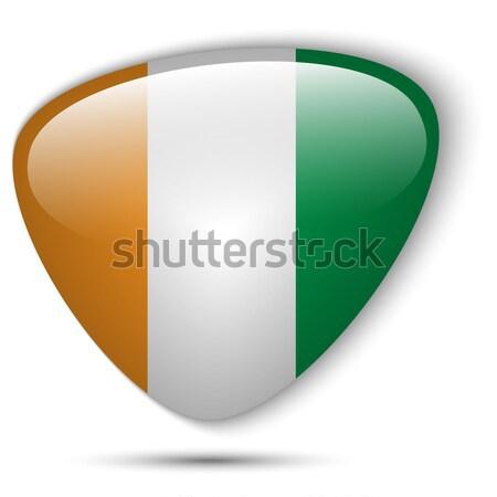 Irlanda bandeira botão vetor vidro Foto stock © gubh83