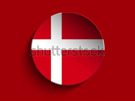Vlag papier cirkel schaduw knop Denemarken Stockfoto © gubh83