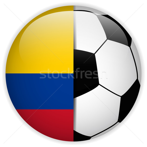 Colombia vlag voetbal vector wereld voetbal Stockfoto © gubh83