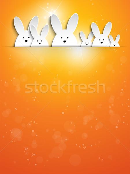 ウサギ バニー オレンジ ベクトル 紙 ストックフォト © gubh83