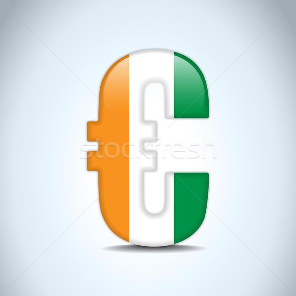 Stock fotó: Euro · szimbólum · Írország · zászló · vektor · pénz