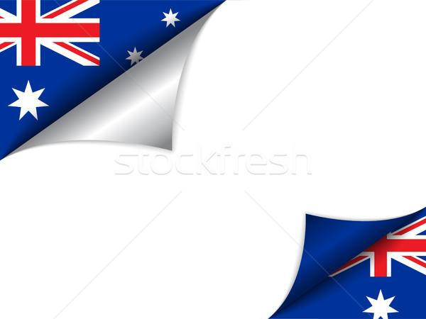 Avustralya ülke bayrak sayfa vektör imzalamak Stok fotoğraf © gubh83