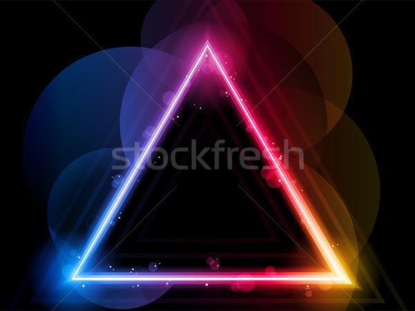 Rainbow Triangle Border with Sparkles and Swirls Stock photo © gubh83