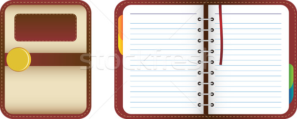 Beautiful Leather Organizer Stock photo © gubh83