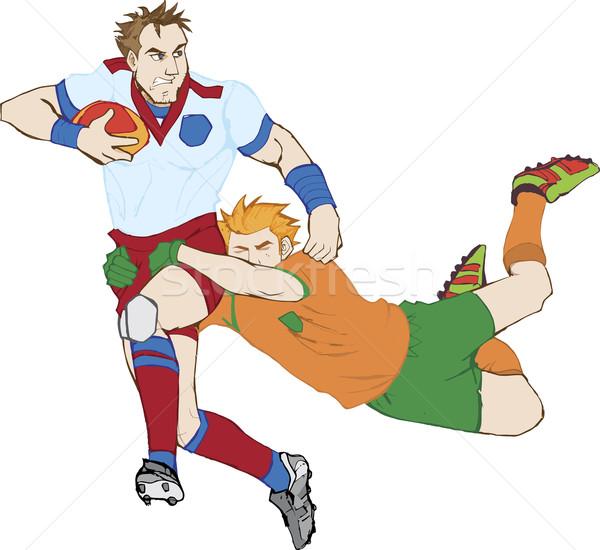 Rugby gracze wysoko szczegółowy wektora Zdjęcia stock © gubh83
