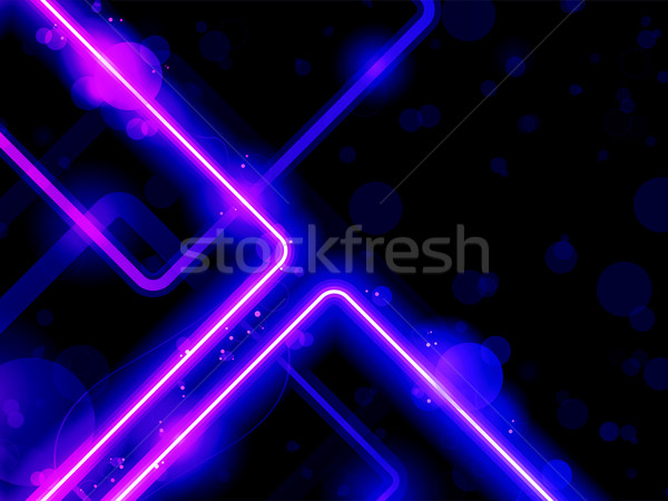 Blue Purple  Lines Background Neon Laser Stock photo © gubh83