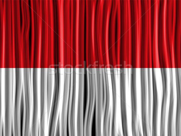 Mônaco bandeira onda tecido textura vetor Foto stock © gubh83