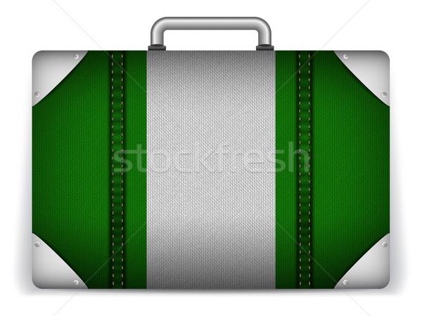 Nigéria viajar bagagem bandeira férias vetor Foto stock © gubh83