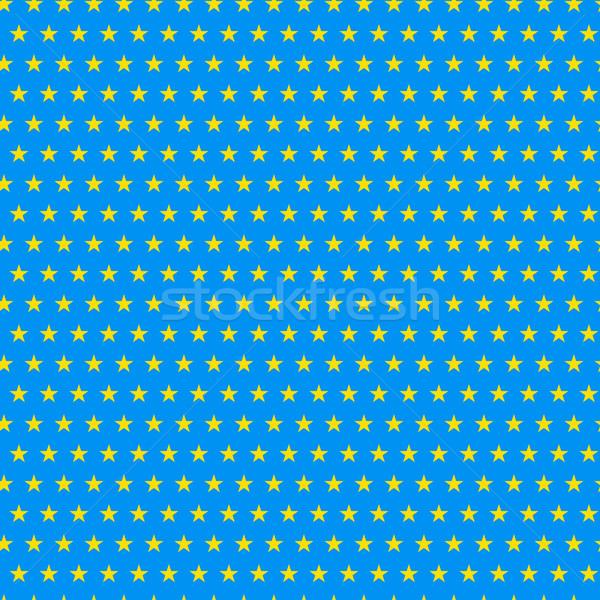 Brazil 2014 Seamless Blue Yellow Background Stock photo © gubh83