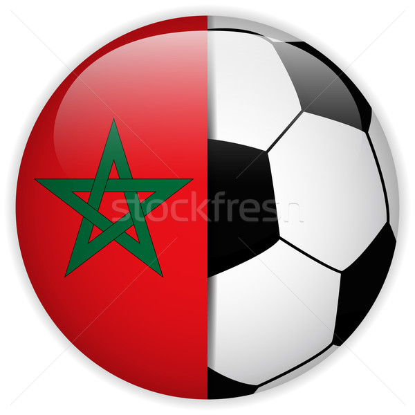 Morocco Flag with Soccer Ball Background Stock photo © gubh83