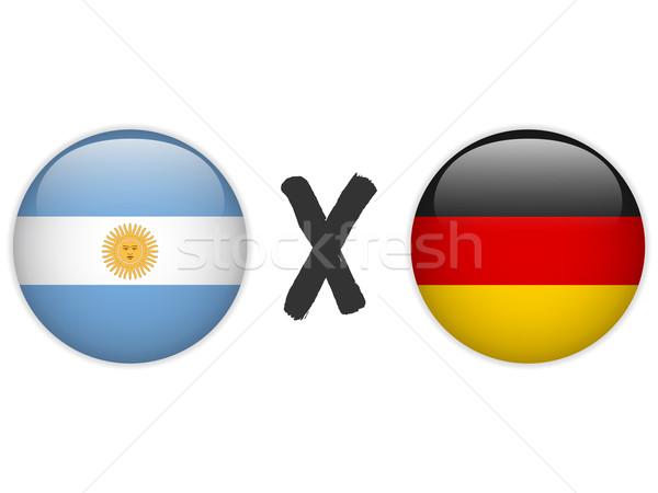 Argentine Allemagne pavillon football jeu vecteur Photo stock © gubh83