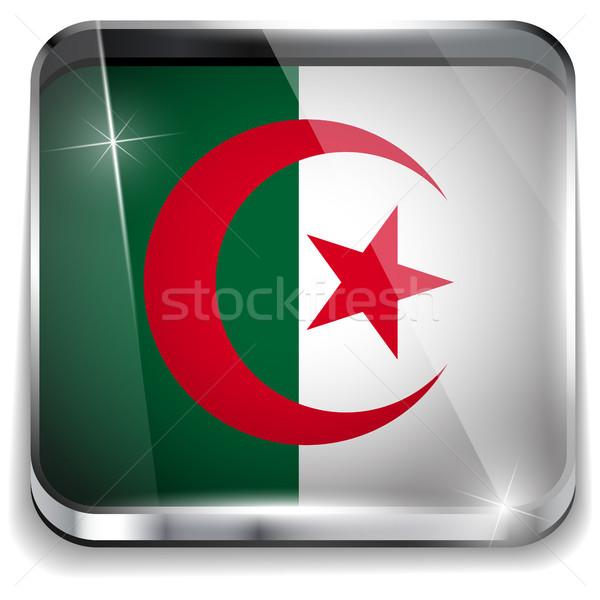 Argélia bandeira aplicação praça botões Foto stock © gubh83
