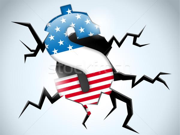 Dollar geld crisis Verenigde Staten amerika vlag Stockfoto © gubh83
