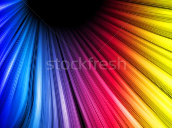 Abstract kleurrijk golven zwarte vector textuur Stockfoto © gubh83