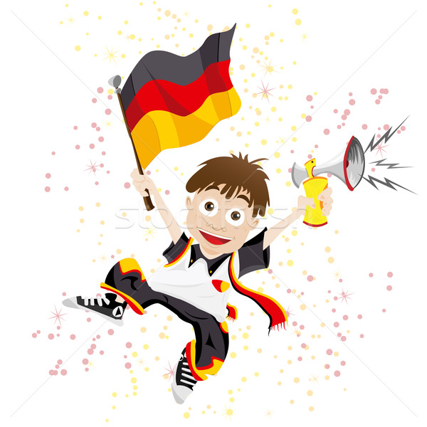 Germany Sport Fan with Flag and Horn Stock photo © gubh83