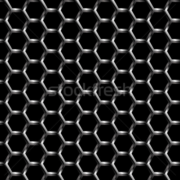 Metal grelha padrão sem costura vetor abstrato Foto stock © gubh83