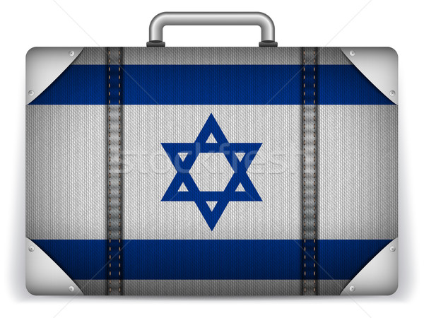 Israël Voyage bagages pavillon vacances vecteur Photo stock © gubh83