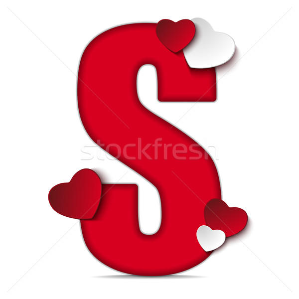 Alphabet Letters With Red Heart Valentine Day vector ... K Alphabet In Heart