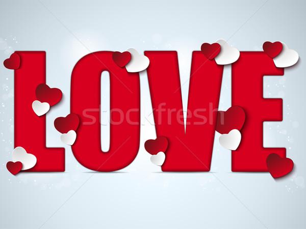 Valentine gün sevmek kalp vektör kâğıt Stok fotoğraf © gubh83