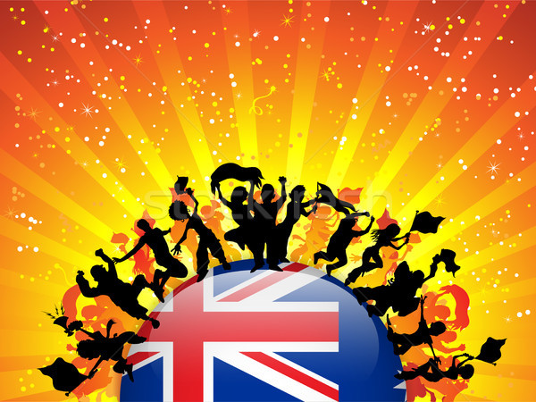 Australia Sport Fan Crowd with Flag Stock photo © gubh83