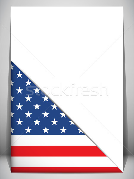 USA Country Flag Turning Page Stock photo © gubh83