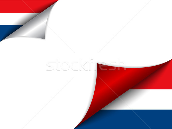 Netherlands Country Flag Turning Page Stock photo © gubh83