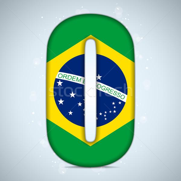 Brazil Flag Brazilian Alphabet Letters Words Stock photo © gubh83