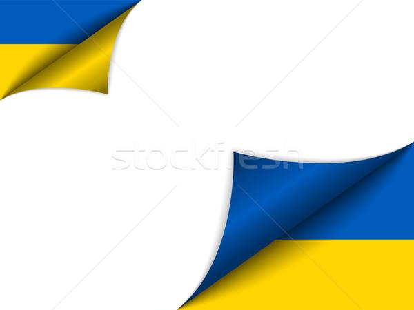 Ukraine Country Flag Turning Page Stock photo © gubh83