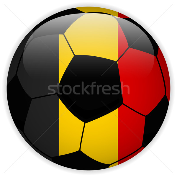 Belgium Flag with Soccer Ball Background Stock photo © gubh83