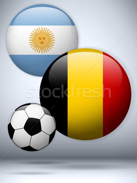 Argentina versus Belgium Flag Soccer Game Stock photo © gubh83