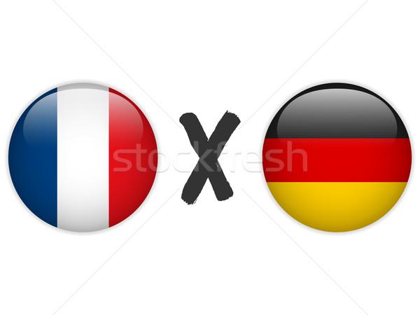 Alemania Francia bandera fútbol juego vector Foto stock © gubh83