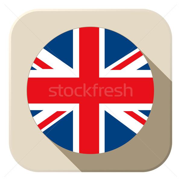 Zászló gomb ikon modern vektor térkép Stock fotó © gubh83