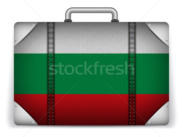 Bulgaria Travel Luggage with Flag for Vacation Stock photo © gubh83