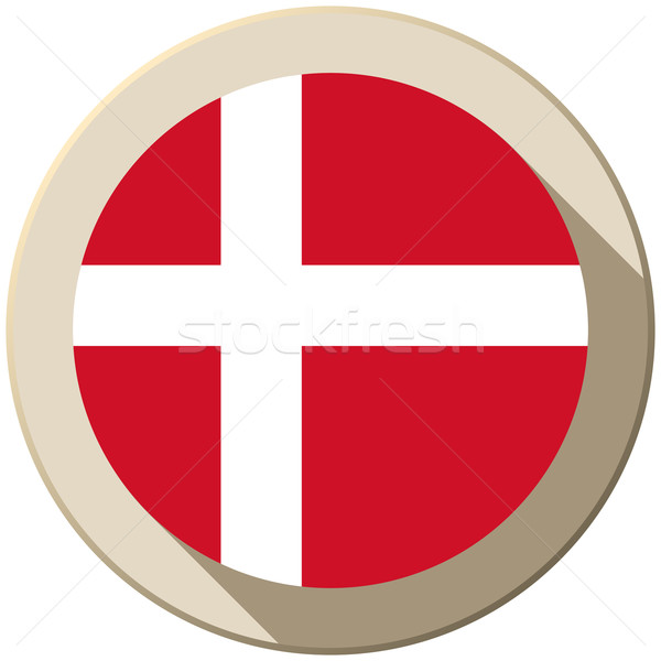 Dinamarca bandeira botão ícone moderno vetor Foto stock © gubh83