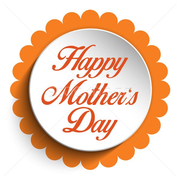 Szczęśliwy matka dzień serca tag wektora Zdjęcia stock © gubh83