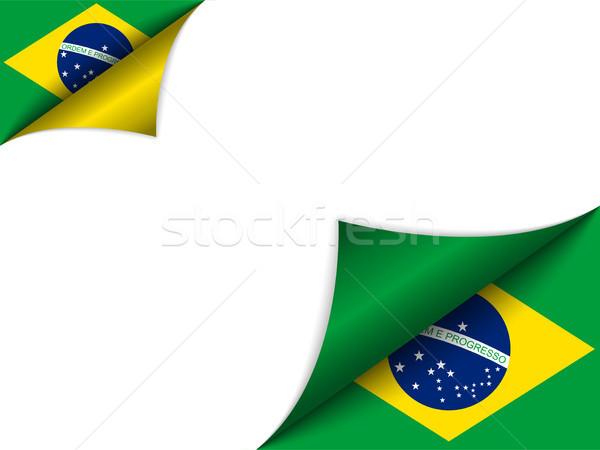 Brezilya ülke bayrak sayfa vektör dizayn Stok fotoğraf © gubh83