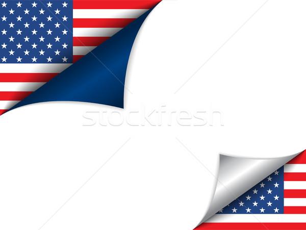 Zdjęcia stock: USA · kraju · banderą · strona · wektora · podpisania