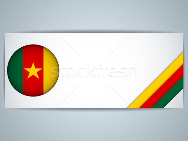 Камерун стране набор Баннеры вектора бизнеса Сток-фото © gubh83