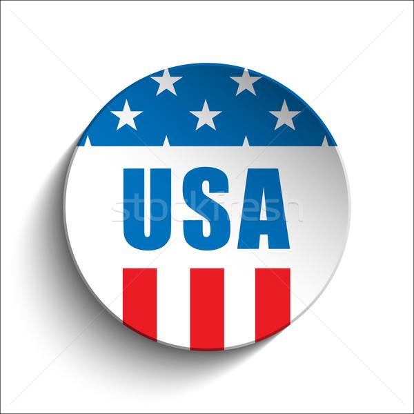 Egyesült Államok nap gomb vektor felirat kék Stock fotó © gubh83