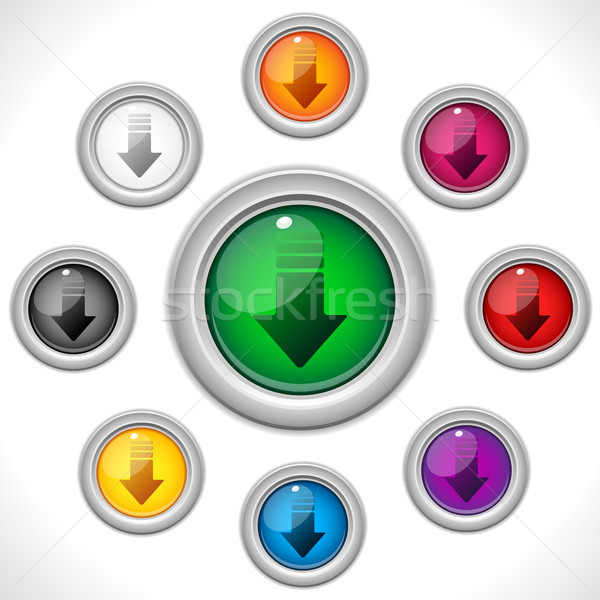Download Shiny Colorful Web Button Stock photo © gubh83