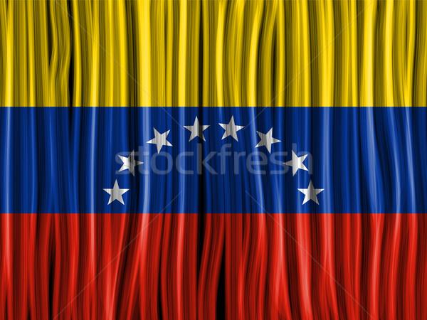Venezuela Flag Wave Fabric Texture Background Stock photo © gubh83