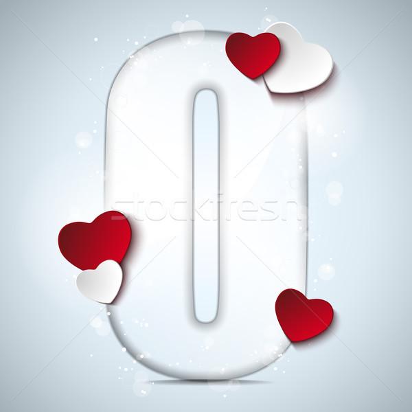 Alfabet brieven Rood hart Valentijn dag Stockfoto © gubh83