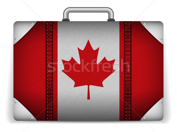 Foto stock: Canadá · viajar · bagagem · bandeira · férias · vetor