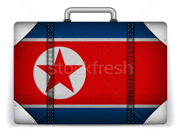 Noorden reizen bagage vlag vakantie vector Stockfoto © gubh83