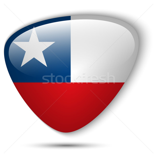 Chile Flag Glossy Button Stock photo © gubh83