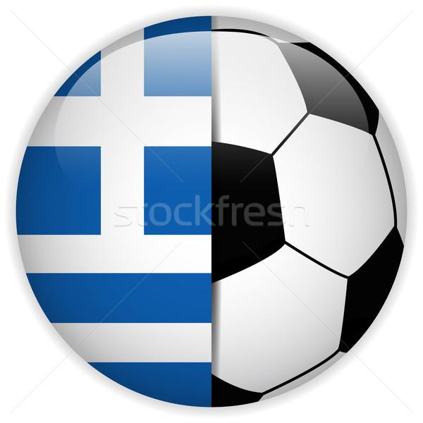 Grecja banderą piłka wektora świat piłka nożna Zdjęcia stock © gubh83