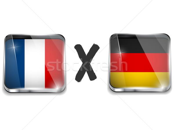 Germany versus France Flag Soccer Game Stock photo © gubh83